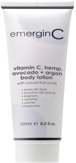 vitamin C hemp avocado argan body lotion